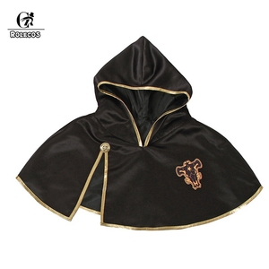 ROLECOS Black Clover Anime Cosplay Costume Asta Cloak Black Bull Cloak Finral Roulacase Cosplay Costume for Halloween Party(China)