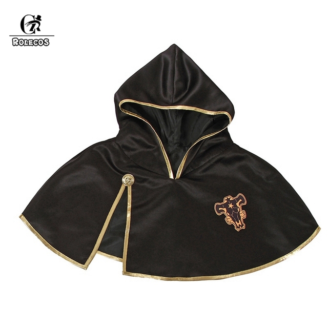 ROLECOS Black Clover Anime Cosplay Costume Asta Cloak Black Bull Cloak Finral Roulacase Cosplay Costume for Halloween Party