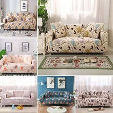 universal sectional slipcover 1 2 3 4 seater spandex sofa cover for living room stretchable sofa cover l shape home decoration WOSTAR Floral Sofa Cover Full Wrap Living Room Universal Dust-proof slipcover sofa towel 1/2/3/4 Seater L shape Armchair Cover