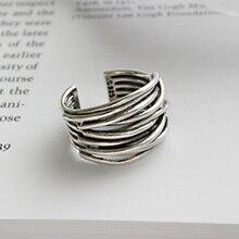 Bijoux 2020 estilo simples plata esterlina multicamadas linha anéis párr presentes femeninos grandes correntes anéis