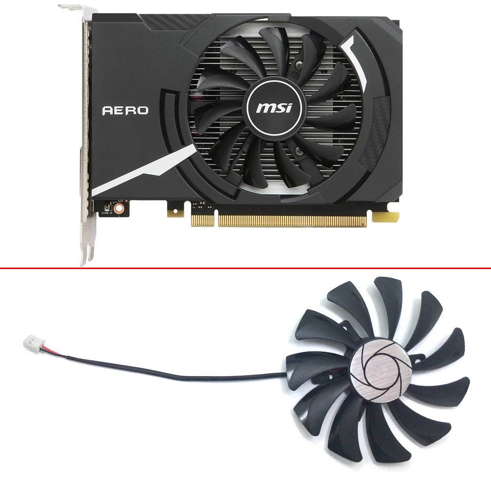 HA9010H12F-Z 85MM 0.57A 2Pin PC Cooling fan GPU Cooler Fan For MSI Geforce GT 1030 2G OC GTX 1050Ti 4G OC Graphic Card Cooling image