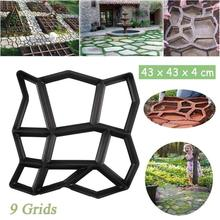 Concrete Molds Manually Garden Pavement Mold Reusable DIY Pa