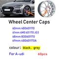 60 шт./лот 60 мм 61 мм 68 мм 69 мм черный серый автомобиль колесная Центральная крышка ступицы колеса для Audi 4B0601170 4M0601170JG3 4B0601170A