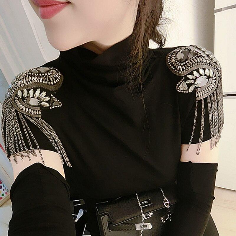 2pcs Classic Handmade Metal Tassel Epaulette Jewelery Tassel Big Shoulder Brooch Epaulet Epaulettes Spikes Blazer AccessoriesBrooches   -