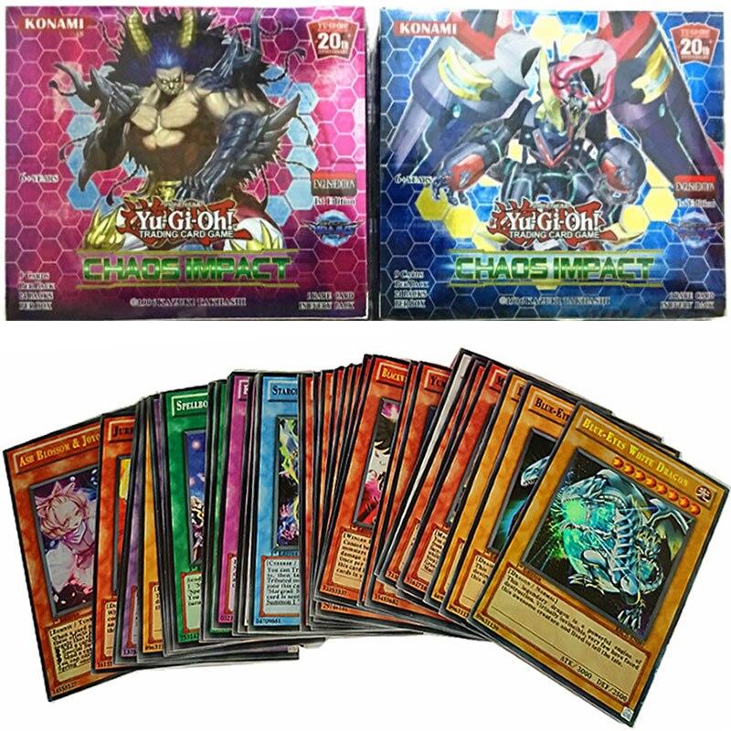 216 pièces Yugioh cartes Version anglaise échange cartes Flash Collection Booster Anime Yu Gi Oh carte jeu carte enfants jouet cadeau