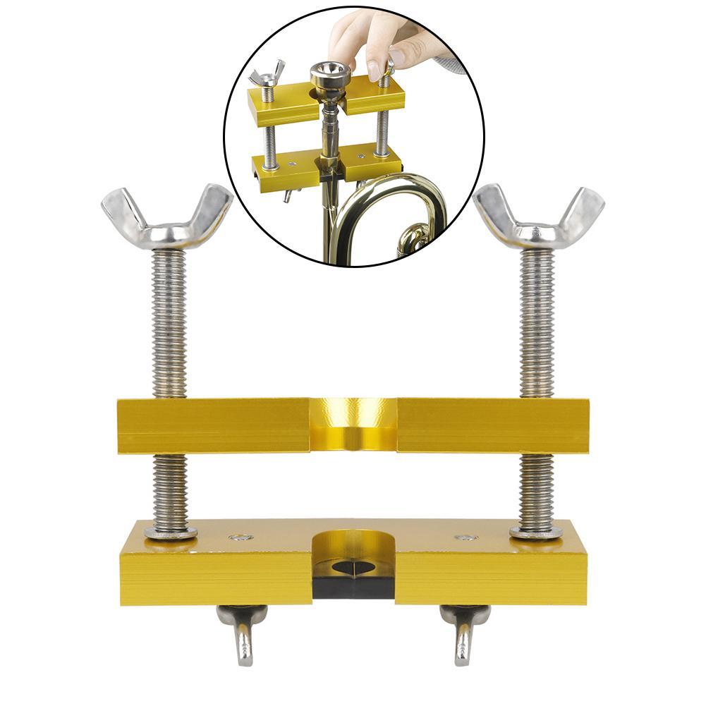 Acessórios de Bronze Novo Profissional Metal Ajustável Latão Trompete Chifre Bocal Extrator Removedor Ferramenta Instrumentos