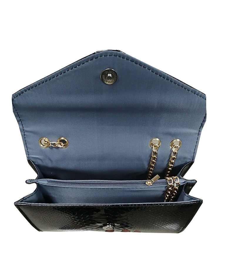 Bolsos de diseñador con solapa de cocodrilo de moda para mujer bolsos 2018 negro blanco pequeño día embrague oro cadena chicas Crossbody bolsos