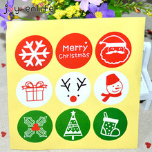 80/90pcs Merry Christmas Adhesive Sticker Decoration for Gifts DIY Stickers Label New year Baking Cake Box