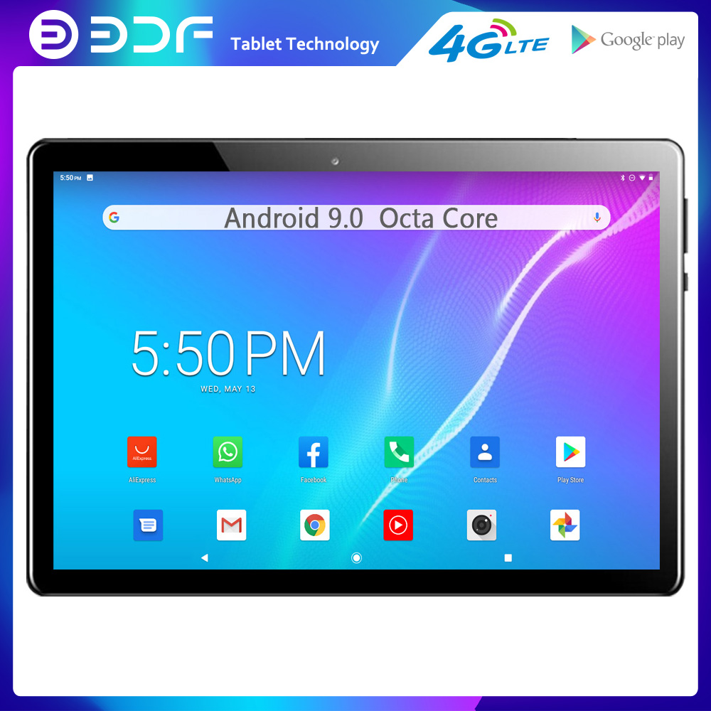 2020 New 10.1 Inch 4G LTE Phone Tablet Pc Android 9.0 Octa Core CE Brand Google Play Dual 4G SIM WiFi Bluetooth GPS Tablets 10 9