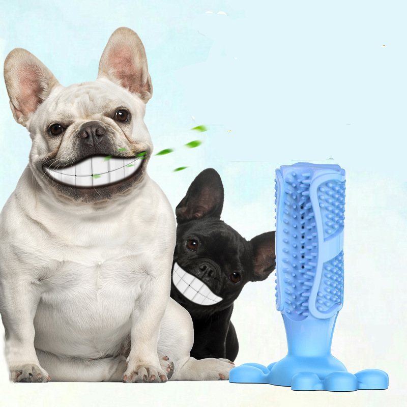 Explosion Models Dog Toothbrush Dog Molar Stick Pet Supplies Rubber Toothbrush Bite Toy Dog Chew Toys Pet Supplies Toys Squishy image