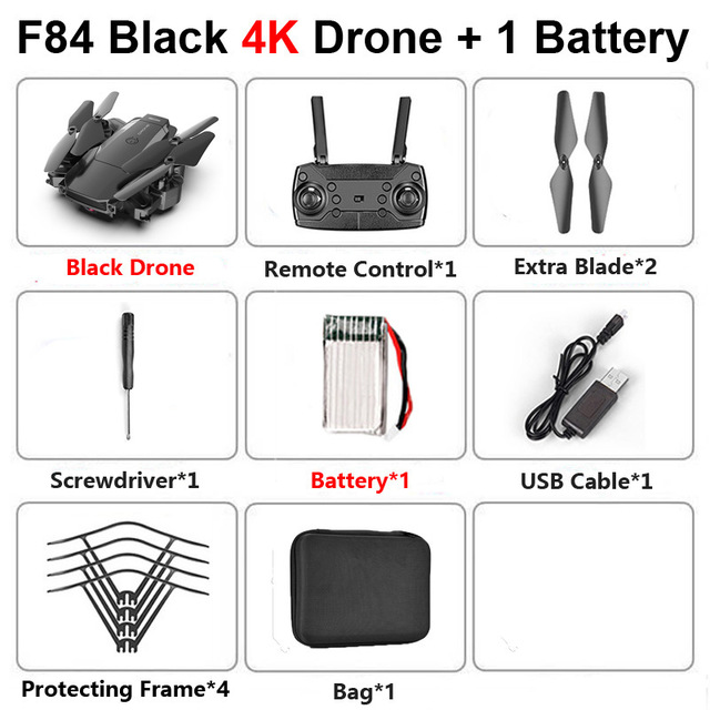 New RC Drone With 4k 1080P HD Camera Wifi Fpv Helicopter Blue And Black Foldable Quadcopter For Children Gift Toy