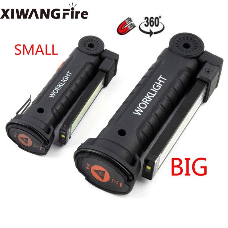 XIWANGFIRE 8000LM рабочий светильник USB COB светодиодный вспышка светильник Магнитный 3 режима ультра яркий фонарь лампа водонепроницаемый фонарь дл...
