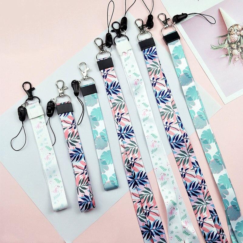 Fashion DIY Ribbon Band Keychain Short Long Ribbons Phone Case Lanyard Home Key Chain Car Key Ring For Women Men Pendant Jewelry
