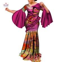 Элегантные африканские платья Дашики с принтом длинное платье