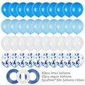 40 шт., декоративные синие шары с конфетти, 1 год