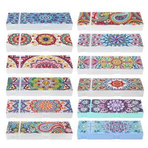 ALLOYSEED DIY мандалы специальной формы алмазная живопись 2 сетки канцелярские ручки коробка для хранения ювелирных изделий Рождественский пода...