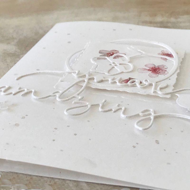 Você é incrível corte de metal dados estêncil scrapbooking álbum diy carimbo de papel cartão de gravação decoração artesanato - 4