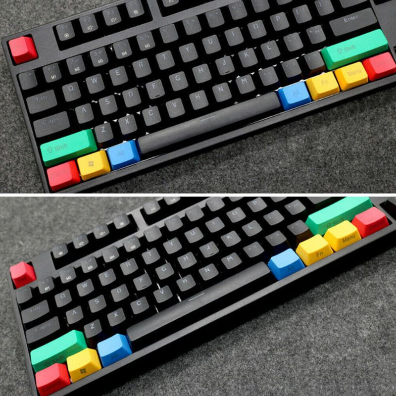10pcs Replacement Mechanical Keyboard OEM Profile Keycap Set RGBY Color Durable D08B