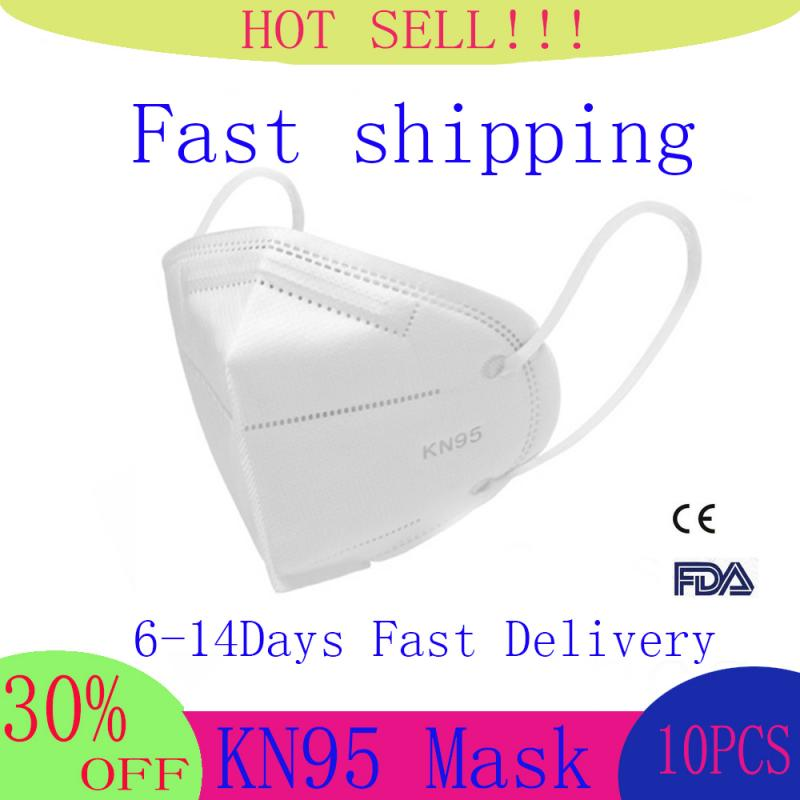 10pcs FPP3 KN95 5 Layers Mask Bacteria Proof Anti Infection KN95 Masks Particulate Mouth Respirator Anti PM2.5 Safety Protective