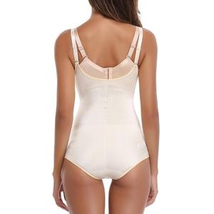 Image 5 - Redutoras cinta modeladora de látex, corset feminino para cirurgia slim corset modelador de cintura