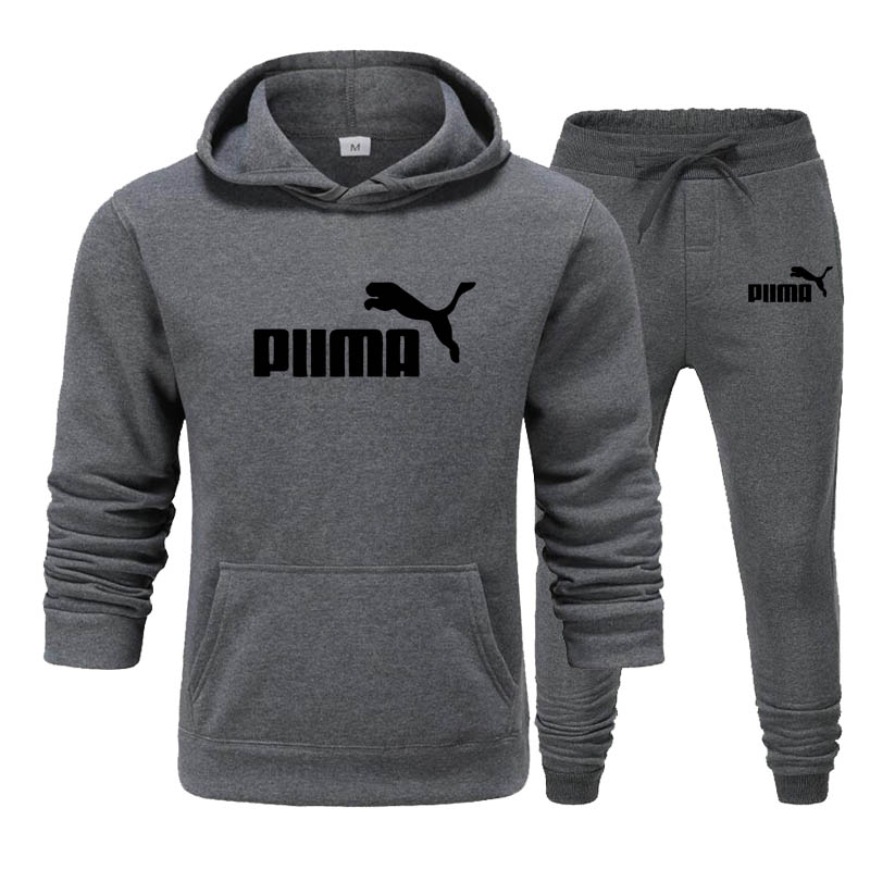 New for 2020! Brand Print Tracksuit Men Fashion Sportswear Cotton Two Piece Sets