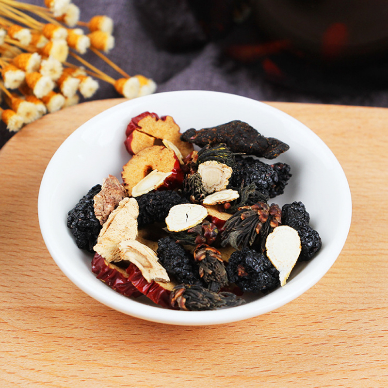 Qiao Yuntang Maca Ginseng Five Treasures Tea Male Flower Mulberry Yellow Flower Men's Kidney Tea Health Preserving Gu Ben Hu's T 2