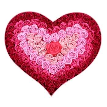 Home Decra Bathroom Scented Guest Soap Flower Shaped Rose Petals for Valentine'S Day Decoration Flowers 100Pcs=1Set-ABVP