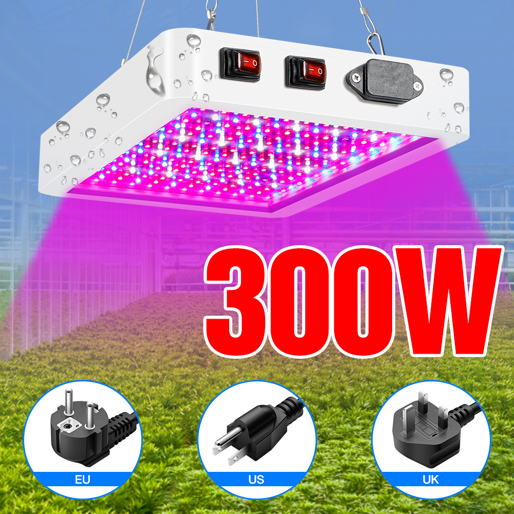 DuuToo Plant Grow Lamp LED Full Spectrum Phyto Light 300W 500W Seedling Fito Light LED Indoor Flower Hydroponics Growing Lampada