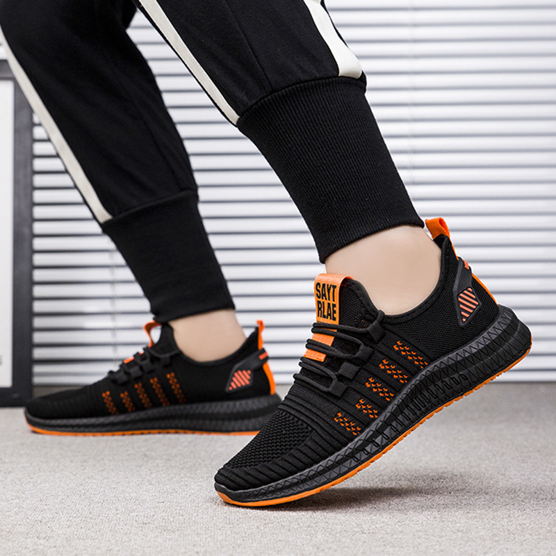 Men's Sneakers Sports Shoes Air Mesh Light Weight Running Shoes Black Breathable Soft Mans Footwear Superstar