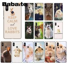 Babaite cute animal bunny rabbit Soft Silicone TPU Phone Cover For XiaoMi 6 MIX2 8SE K20 REDMI 5A NOTE4X 7 6A Coque Shell(China)
