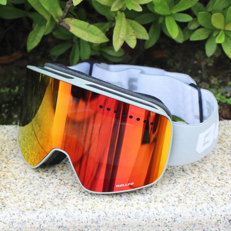 Магнитные двухслойные поляризованные линзы лыжные очки Анти-Туман UV400 очки для сноуборда лыж для мужчин женщин мужчин лыжные очки