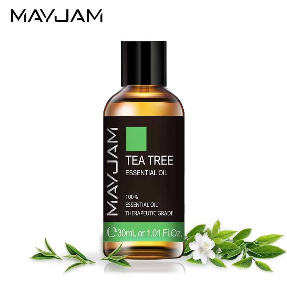 Эфирное масло чайного дерева, 30 мл, диффузор, чистые сандаловые эфирные масла, Ванильная мята, пачули, бергамот, эвкалипт, ароматическое масл...