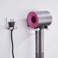 알루미늄 벽 마운트 헤어 드라이어 홀더 랙 소켓 홀더 세트 욕실 선반 헤어 드라이어 스토리지 주최자 욕실 액세서리