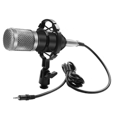 цена на Bm-800 8 Colors Condenser Microphone BM800 Mikrofon KTV Bm 800 Mic With Shock Mount For Radio Professional Studio Microphone