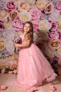 Image 5 - Laeacco Vinyl Photography Backgrounds Floral Wall Rose Flowers Wedding Backdrops Birthday Baby Shower Photozone For Photo Studio