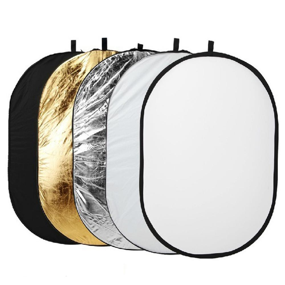 5 IN 1 Professional Reflector Photography Accessories Collapsible Light Reflector Camera Reflector Translucent Plate 90 X 120cm