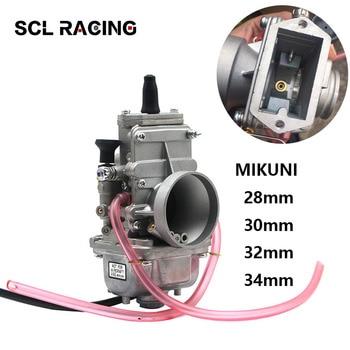 Alconstar-Carburador MIKUNI para motocicleta, 24mm, 28mm, 30mm, 32mm, 34mm, 38mm, TM28, TM30, TM32, TM34, smootbore para motor 2 T