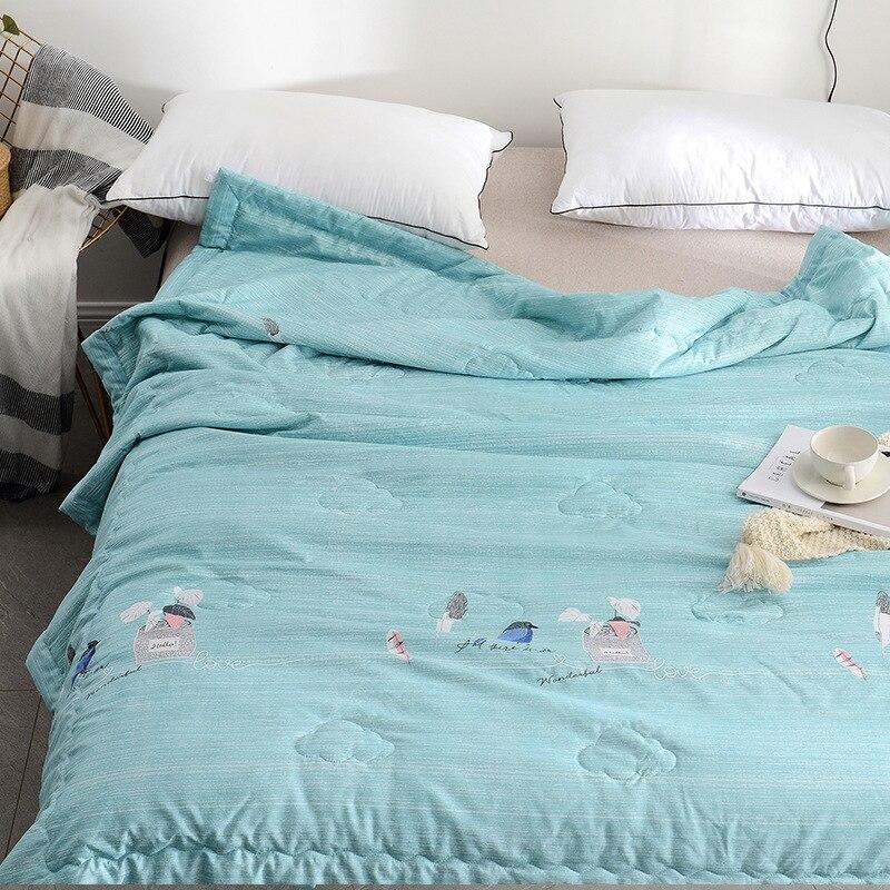 DOHIA doux et frais été couverture pliable fabricants de lavage vente directe été Airable couverture cadeau mince couverture en gros