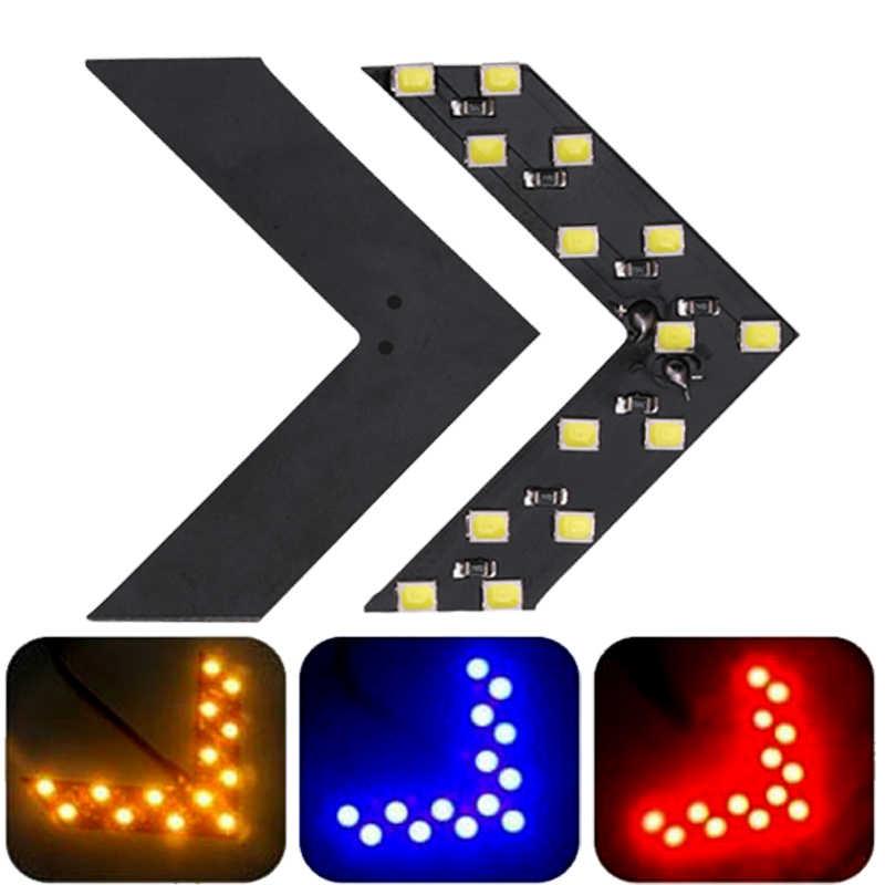 1x Xe Ô Tô Đèn LED Chiếu Hậu Mũi Tên Bảng Điều Khiển Ánh Sáng Gương Đèn Báo Chuyển Tín Hiệu Đèn LED Xe Hơi Gương Chiếu Hậu Ánh Sáng Tạo Kiểu Tóc đỏ Vàng