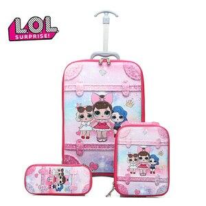 Куклы из серии «LOL Surprise» Школьная Сумка детская тележка 6-круглый школьная сумка для обеда сумка для карандашей из трех предметов 1-5Grade Детск...
