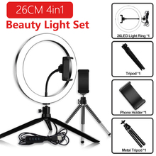 zomei 10inch selfie led ring light with stand camera studio light ring for smartphone with phone holder for live video makeup 10 inch Desktop Ring Light with 2 Tripod Phone Holder Stand LED Selfie Ring Light For Makeup Video Live Studio Photography Light