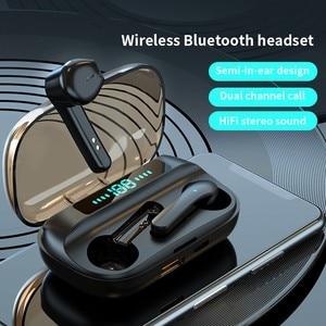 Bluetooth наушники беспроводные наушники с микрофоном 3D HiFi стерео гарнитура с сенсорным управлением спортивные водонепроницаемые наушники светодиодный дисплей
