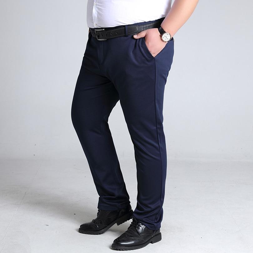 BINHIIRO Plus Size Men's Pants British Style Micro-elastic Casual Pants Men Autumn Slim Fashion Formal Suit Pants Male 8XL 10XL