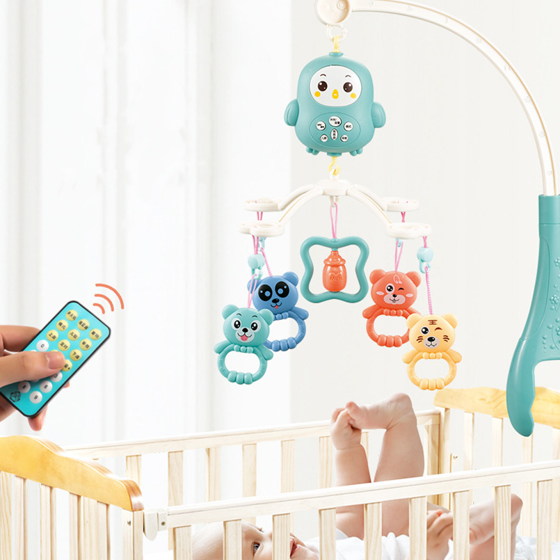 Baby Rattles Crib Mobiles Toy Holder Rotating Crib toy cartoon educational Mobile Bed stroller Newborn baby toys for 0 12 months