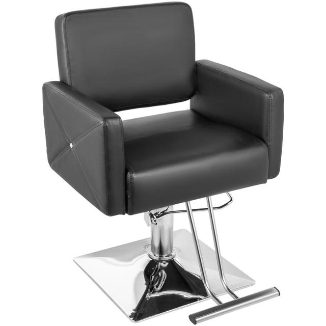 VEVOR Hydraulic Barber Chair PU Leather Styling Chairs for Salon Modern Hairdresser Tattoo Shaving Lift Square Barber Chair
