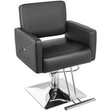 VEVOR hydrauliczny fotel fryzjerski PU skórzane stylowe krzesła do salonu nowoczesny fryzjer tatuaż podnośnik do golenia kwadratowy fotel fryzjerski