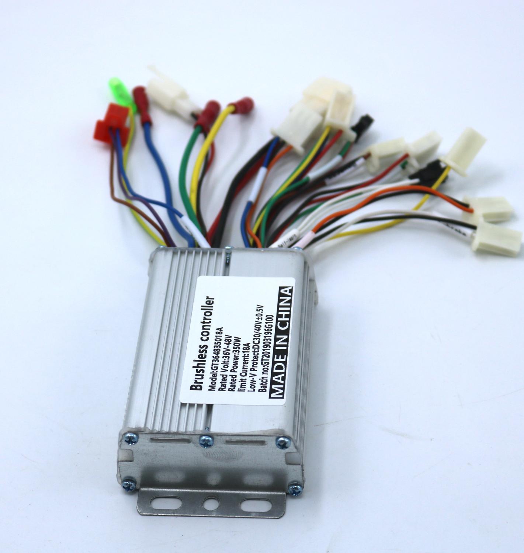 GREENTIME Sensor/sensorless Dual Mode 48V 350W BLDC Motor Controller E-bike Brushless Speed Controller