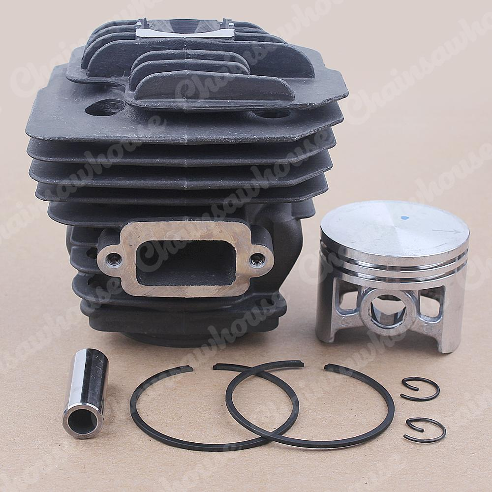 Tools : 46mm Cylinder Piston Kit For Oleo-Mac 956 Efco 156 Emak 395023 Chainsaw OEM 50012095 w Ring Pin Circlips