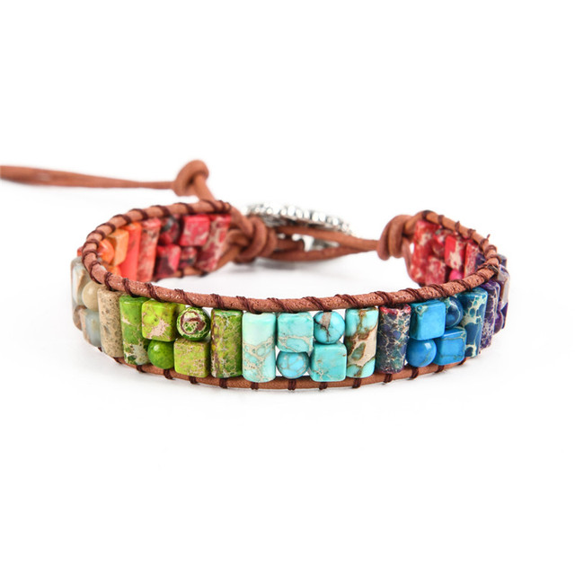 Natural Stone Leather Wrap...