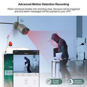 Image 5 - H.265 8CH Wireless Camera CCTV System 1080P 2MP NVR Kit IR Outdoor Wifi IP Camera Two Way Audio Video Security Surveillance Set